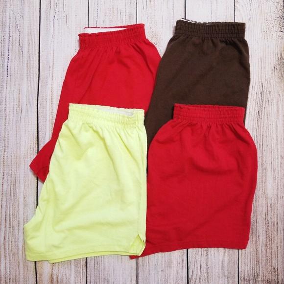 Soffe Pants - Soffe knit shorts four pair All XL